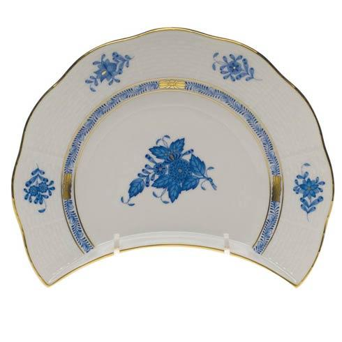 Herend Chinese Bouquet Blue Crescent Salad  7.25