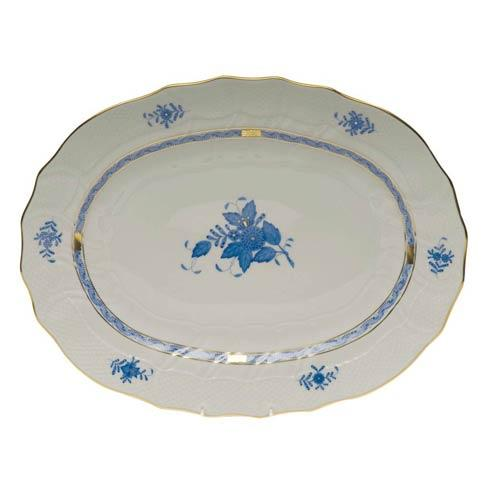 Herend Chinese Bouquet Blue Platter  17