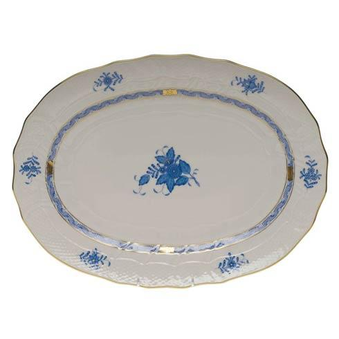 Herend Chinese Bouquet Blue Platter  15