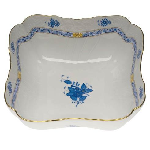 Herend Chinese Bouquet Blue Square Salad Bowl  10