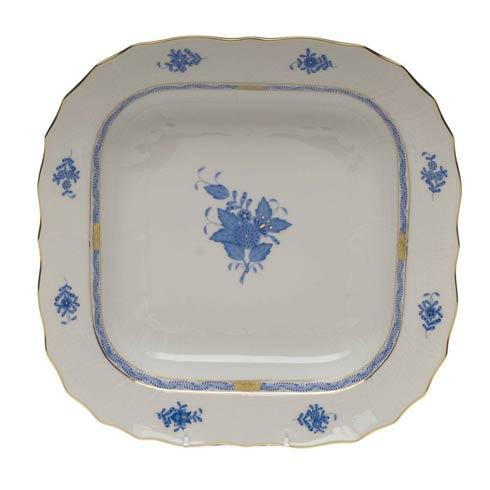 Herend Chinese Bouquet Blue Square Fruit Dish  11