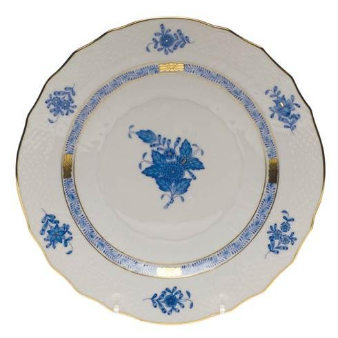 "Herend  Chinese Bouquet Blue Salad Plate  7.5"" D $100.00"