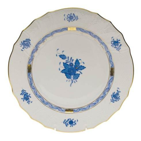 Herend Chinese Bouquet Blue Dinner Plate  10.5