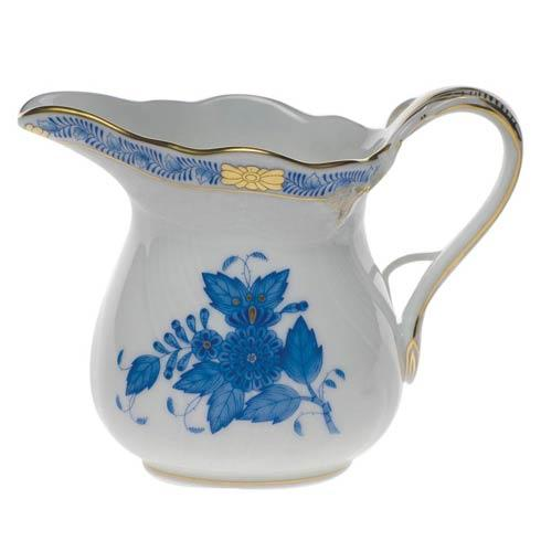 Herend Chinese Bouquet Blue Creamer  (6 Oz) 3.5