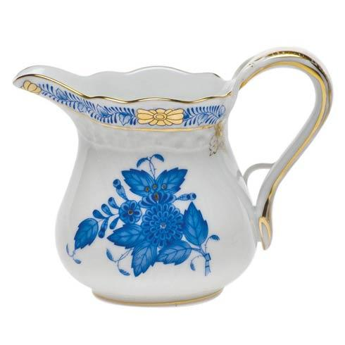 Herend Chinese Bouquet Blue Creamer  (4 Oz) 3.25