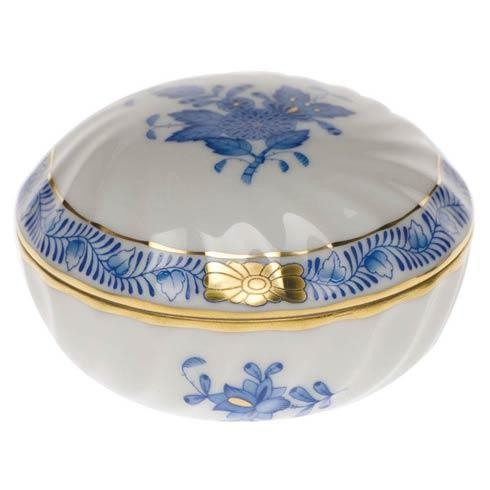 "Herend  Chinese Bouquet Blue Ring Box  2.75"" D $75.00"