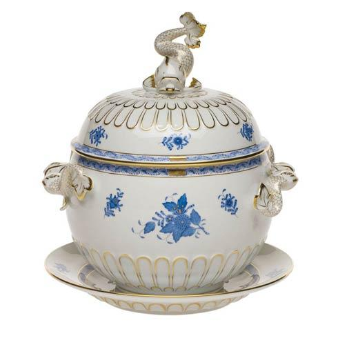 Herend Collections Chinese Bouquet Blue Tureen & Platter  $1,350.00
