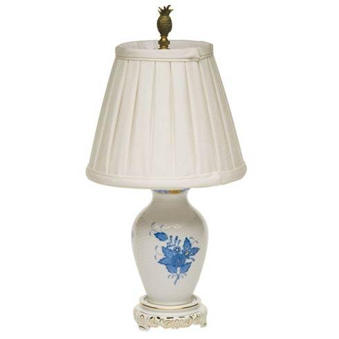 "$445.00 Basketweave Lamp W/Shade  14"" H"