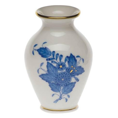 """Herend Chinese Bouquet Blue Bud Vase  2.5"""" H $65.00"""
