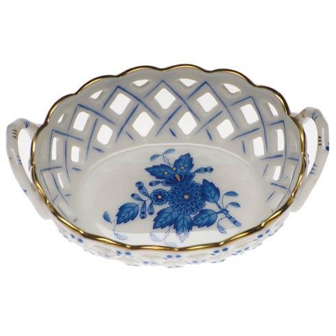 $125.00 Sm Openwork Basket W/Handles