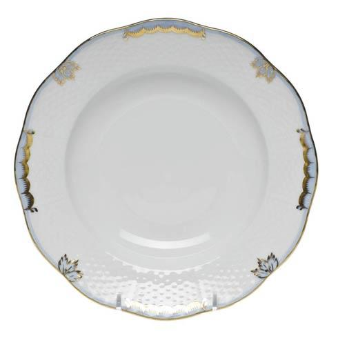 Herend  Princess Victoria Light Blue Rim Soup Plate $125.00