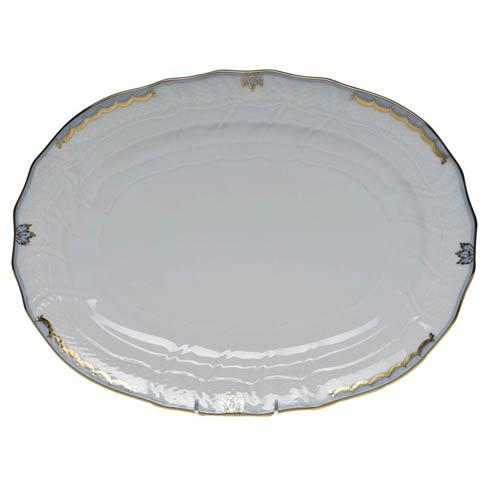 Herend  Princess Victoria Light Blue Platter $360.00