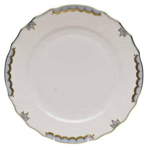 Herend  Princess Victoria Light Blue Dinner Plate $110.00