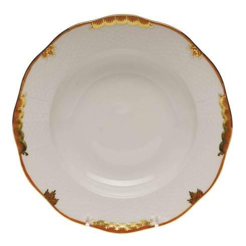 Herend Princess Victoria Rust Rim Soup Plate $125.00