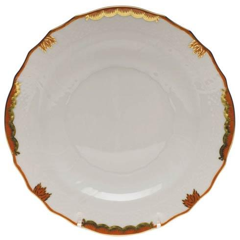 Herend Princess Victoria Rust Salad Plate $80.00