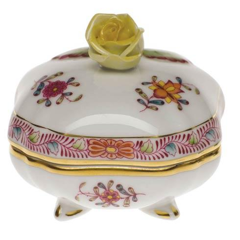 Herend Chinese Bouquet Multicolor Cov Bonbon W/Rose $125.00