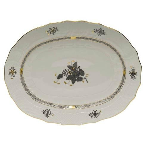 Herend Chinese Bouquet Black Platter $550.00