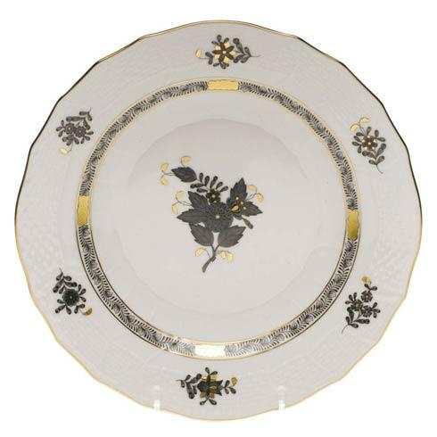Herend Chinese Bouquet Black Dessert Plate $115.00