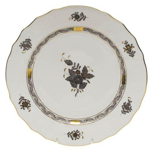 Herend Collections Chinese Bouquet Black Dinner Plate $145.00
