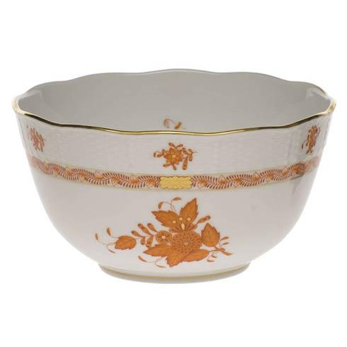 Herend Chinese Bouquet Rust Round Bowl $200.00