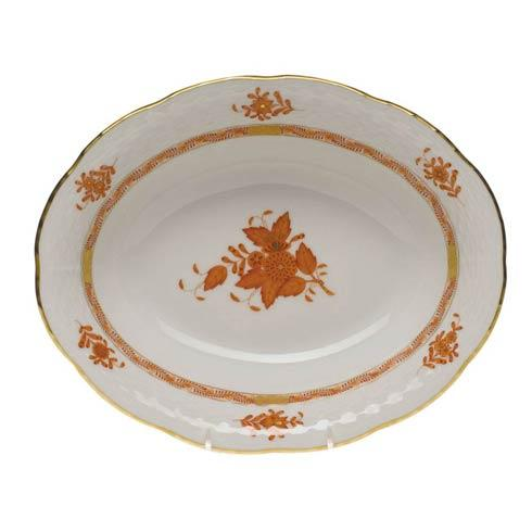 Herend Chinese Bouquet Rust Oval Veg Dish $225.00
