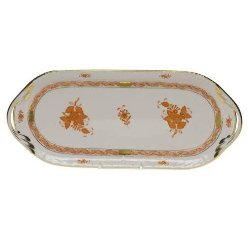 Herend Chinese Bouquet Rust Sandwich Tray $310.00