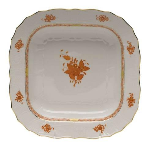 Herend Chinese Bouquet Rust Square Fruit Dish $335.00