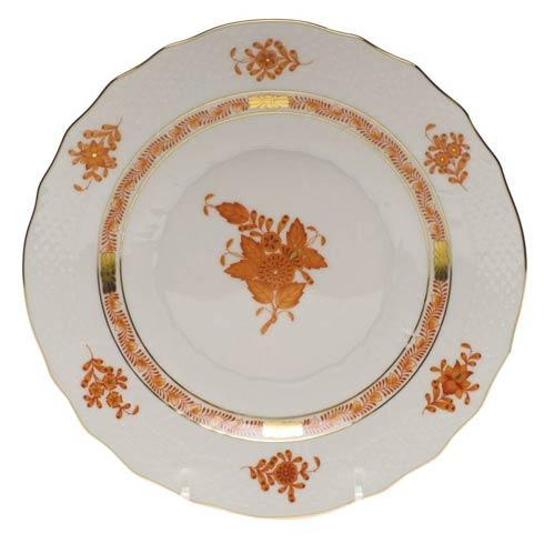 Herend  Chinese Bouquet Rust Salad Plate $100.00