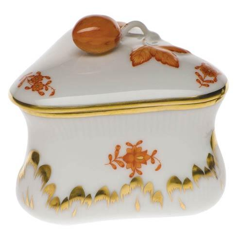 Herend Chinese Bouquet Rust Strawberry Bonbon $115.00