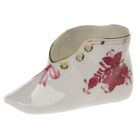 Herend Chinese Bouquet Raspberry Baby Shoe $75.00