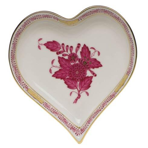 Herend Collections Chinese Bouquet Raspberry Small Heart Tray $95.00