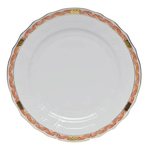 Herend  Chinese Bouquet Garland Rust Dinner Plate $120.00