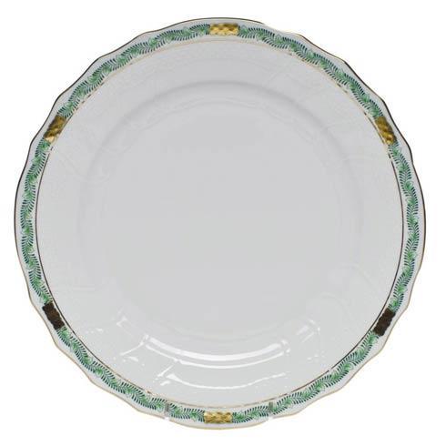 Herend  Chinese Bouquet Garland Green Dinner Plate $120.00