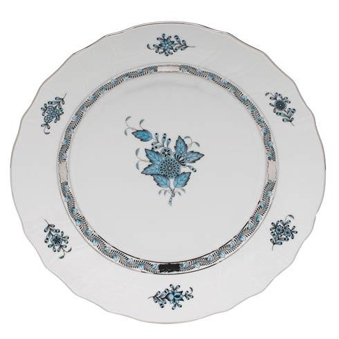 Herend Collections Chinese Bouquet Turquoise & Plantinum Dinner Plate $145.00