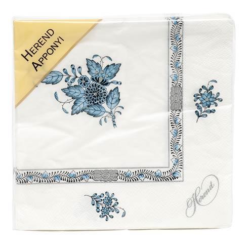 $12.00 Napkin -  Turquoise & Platinum