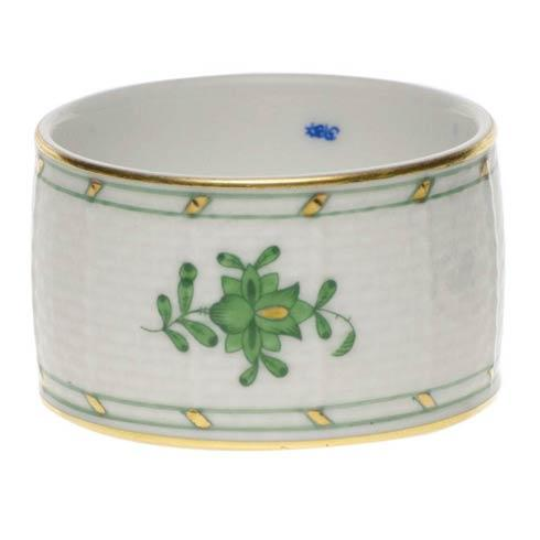 Herend Chinese Bouquet Green Napkin Ring $65.00