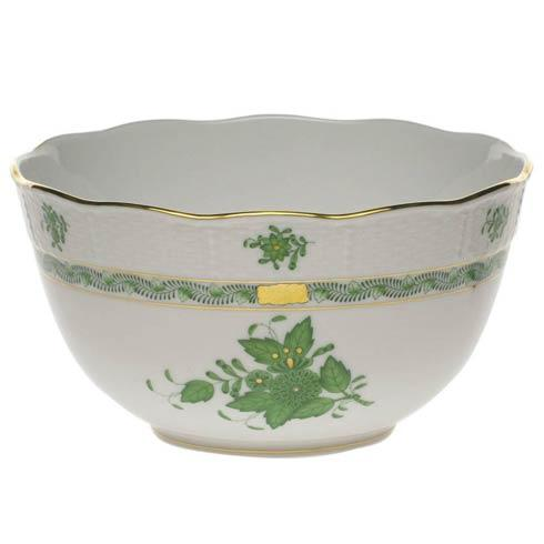 Herend Chinese Bouquet Green Round Bowl $200.00