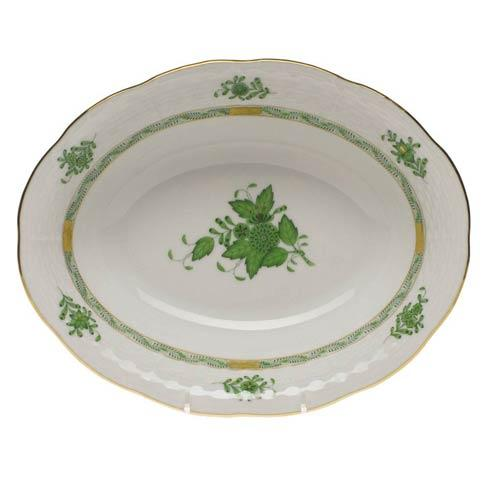 Herend Chinese Bouquet Green Oval Veg Dish $225.00