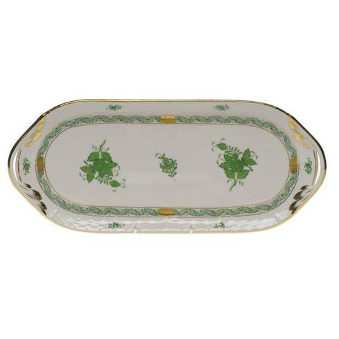 Herend  Chinese Bouquet Green Sandwich Tray $310.00