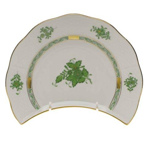 Herend Chinese Bouquet Green Crescent Salad $135.00