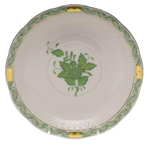 Herend Chinese Bouquet Green Cream Soup Stand $95.00