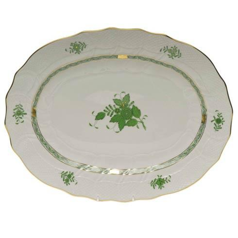 Herend Chinese Bouquet Green Platter $550.00
