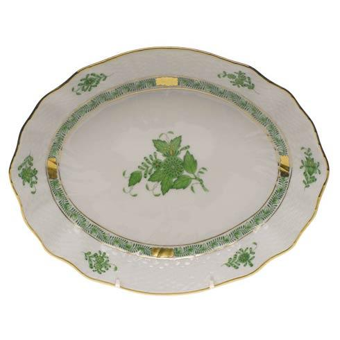 Herend Chinese Bouquet Green Oval Dish $165.00