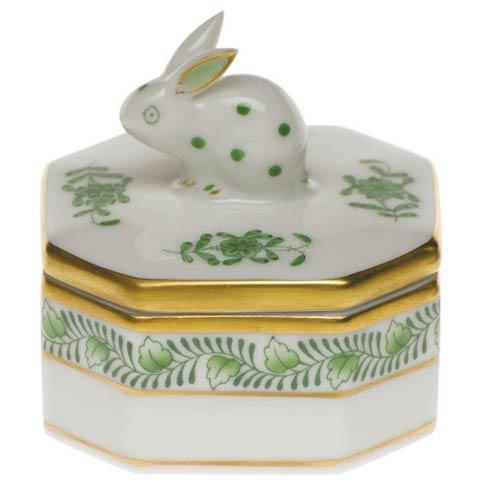 Herend Chinese Bouquet Green Petite Octagonal Box - Bunny $120.00