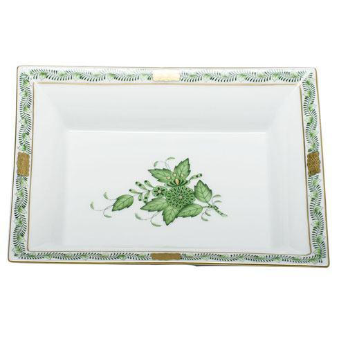 Herend  Chinese Bouquet Green Jewelry Tray $195.00