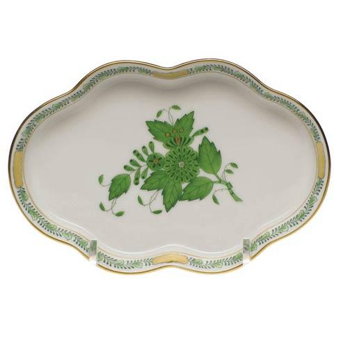 Herend Chinese Bouquet Green Small Scalloped Tray $95.00