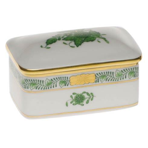 Herend  Chinese Bouquet Green Rectangular Box $95.00