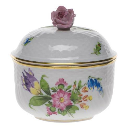 Herend Collections Printemps Cov Sugar W/Rose $190.00