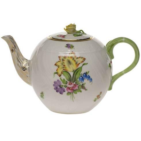 Herend Collections Printemps Tea Pot W/Rose $350.00