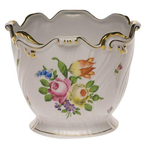 Herend Collections Printemps Ribbed Cachepot $435.00